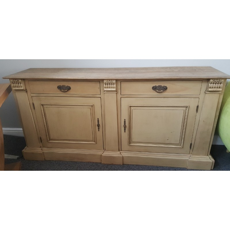 Indian Hard Wood Shabby Chic Sideboard