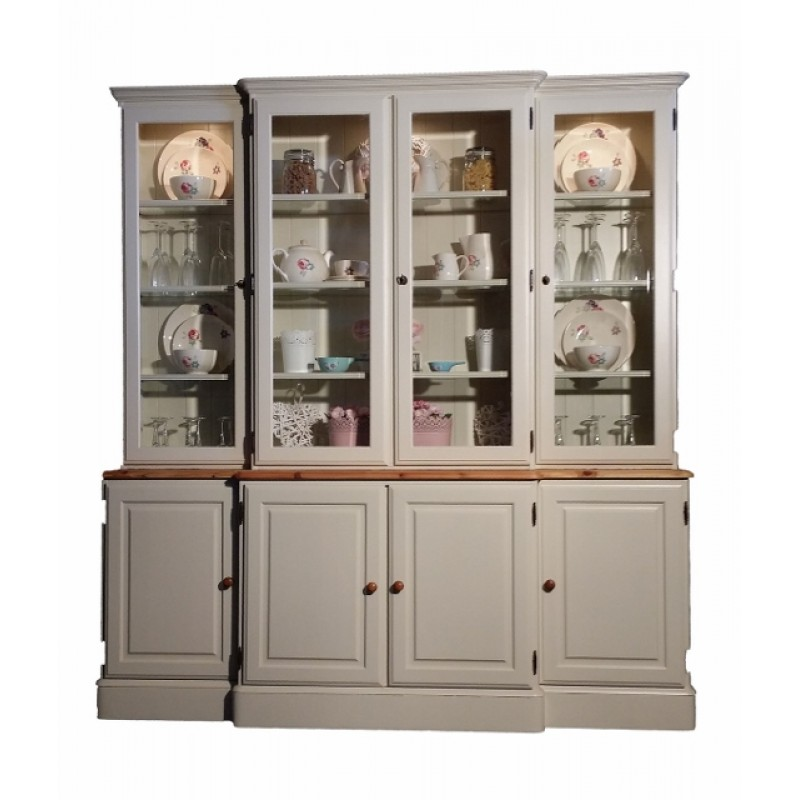 Farrow And Ball Kitchen Cabinets: Ducal Breakfront Full Cabinet Pained In Farrow And Ball